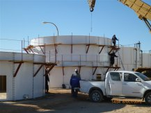 Erection of Tanks at Waha SIte 2012